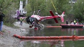 L'hélicoptère d'Air Zermatt accidenté a été sorti de l'eau (VS)