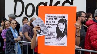 Lausanne: une cinquantaine de personnes manifestent contre le concert de Bertrand Cantat
