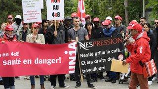 Lausanne: les employés de Nespresso manifestent contre le nouvel horaire