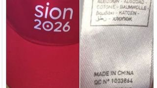 Sion 2026: les casquettes made in China font grincer des dents