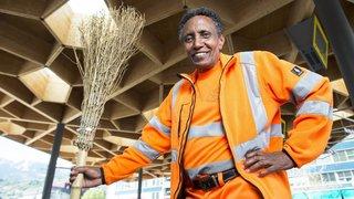 Mohammed Kedir, le médaillé olympique qui balaie les rues de Sion