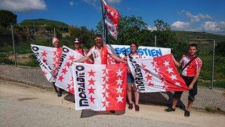 Les supporters valaisans envahissent les cols du Giro