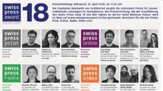 Swiss Press Award: trois journalistes romands primés