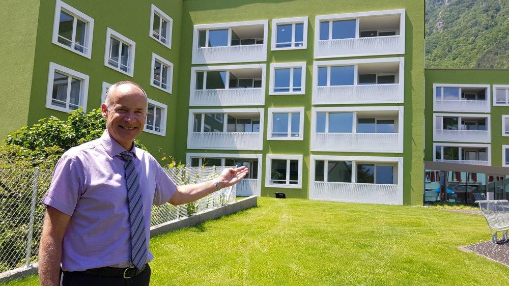 L'EMS Riond-Vert (ici son directeur Fabien Delavy) assurera un service d'urgence aux locataires des nouveaux appartement protégés.