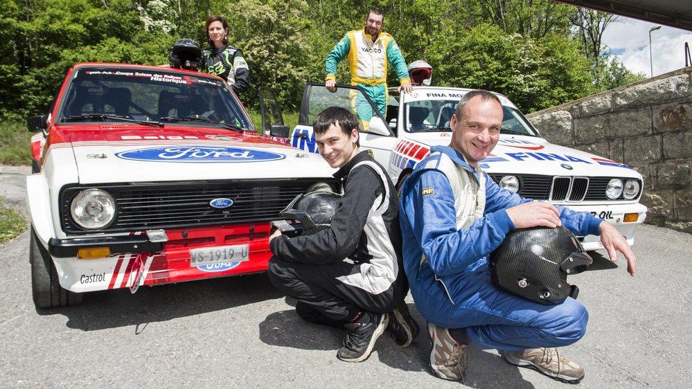 Florence et Kevin Bérard, à gauche, feront équipage sur une Ford Escort alors que Frédéric Rausis et Eddy Bérard seront associés dans une BMW M3.