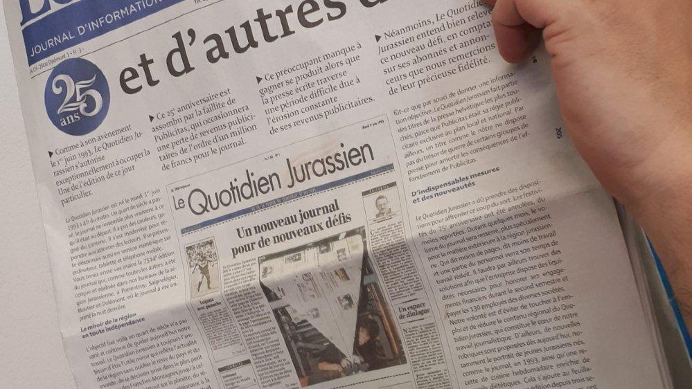 «Le Quotidien jurassien» souffre ses bougies