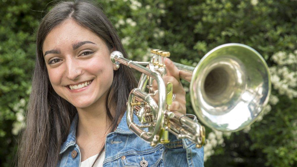 Mathilde Roh brille autant sur les bancs d'école qu'au cornet.