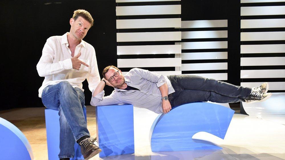 Les deux humoristes ont joué leur spectacle à Solid'Air, à Nendaz il y a dix jours. L'occasion pour nous de les rencontrer en toute simplicité.
