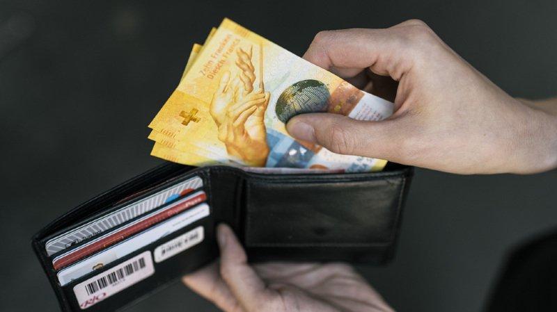Les personnes sondées ont en moyenne 133 francs en poche. Les billets de 10 et de 20 francs sont les plus fréquemment échangés.