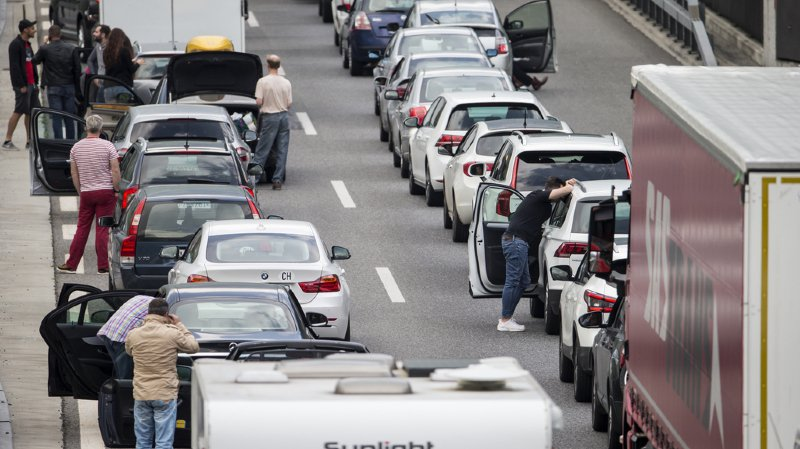 Les embouteillages continuent d'augmenter en Suisse.