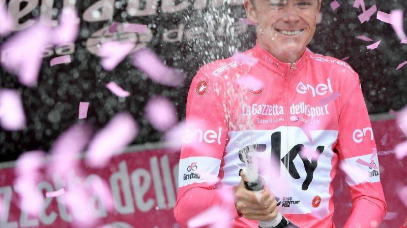 Chris Froome remporte pour la première fois de sa carrière le Tour d'Italie.