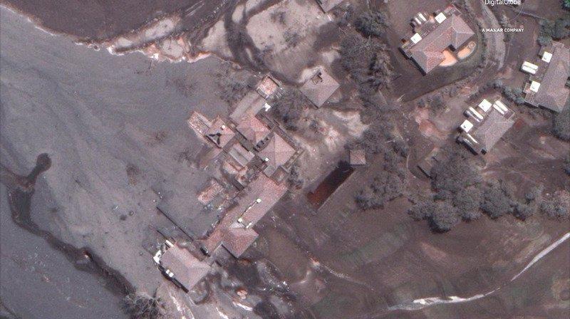 Les explosions provoquent des coulées modérées d'environ 800 à 1000 mètres.