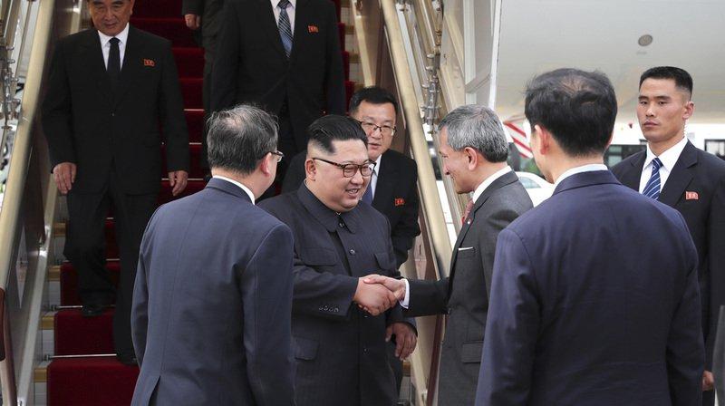 Le dirigeant nord-coréen Kim Jong-un est arrivé à Singapour