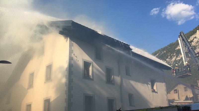 Bramois: un incendie se déclare dans une maison