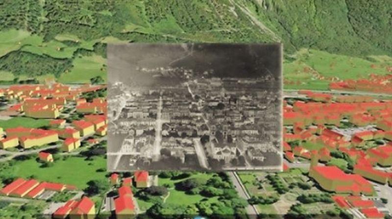 On peut comparer les images à la situation présente en les superposant sur une représentation 3D actuelle.
