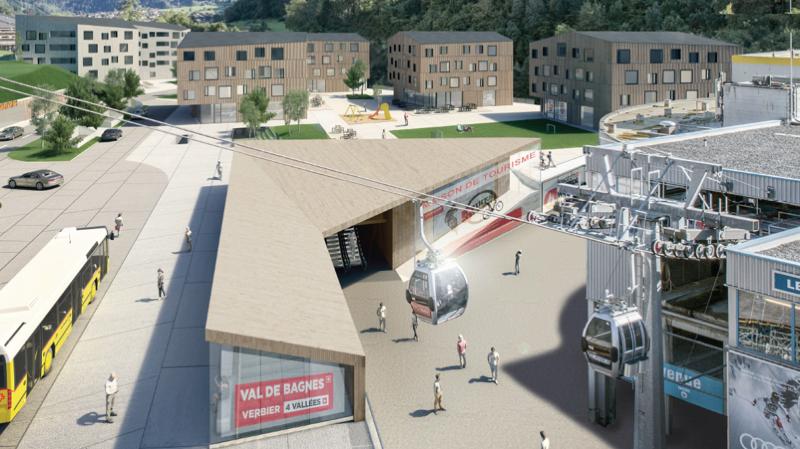 Entre le départ de la télécabine et la salle Saint-Marc, la zone de Curala accueillera des résidences de tourisme, un hôtel, des appartements et des commerces.
