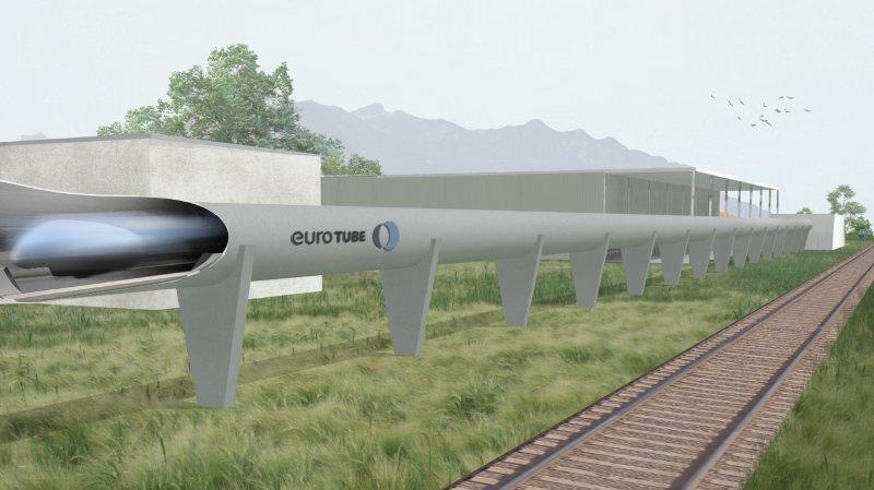 Le centre de recherche et le tube de 3 km longeront les rails de chemin de fer.