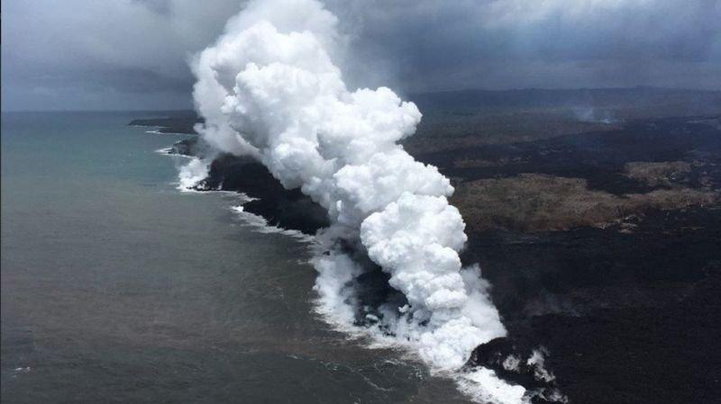Dans les jours à venir, le nuage devrait se déplacer vers l'ouest, en direction des îles de Kosrae, Pohnpei et peut-être Chuuk, en Micronésie.