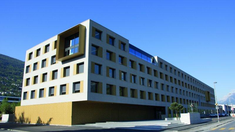 Le nouveau centre de service du Groupe Mutuel est situé à la rue de la Blancherie.