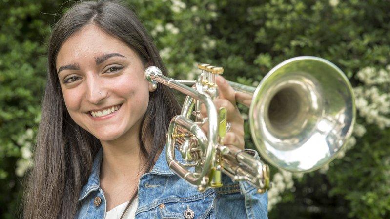 Elle excelle à la matu comme au cornet: le brillant parcours de Mathilde Roh
