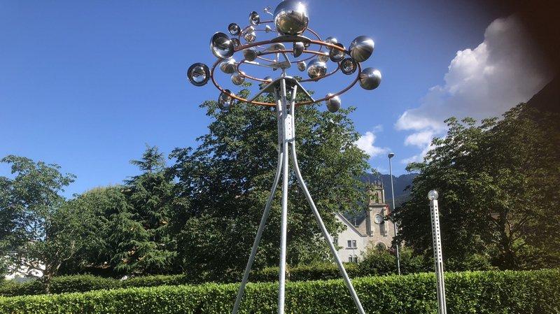«Orbite», l'une des œuvres à découvrir dans le nouveau parc consacré à l'art cinétique à Aigle.