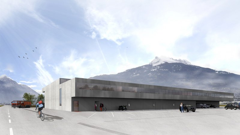 Monthey collombey muraz la future caserne de pompiers commune
