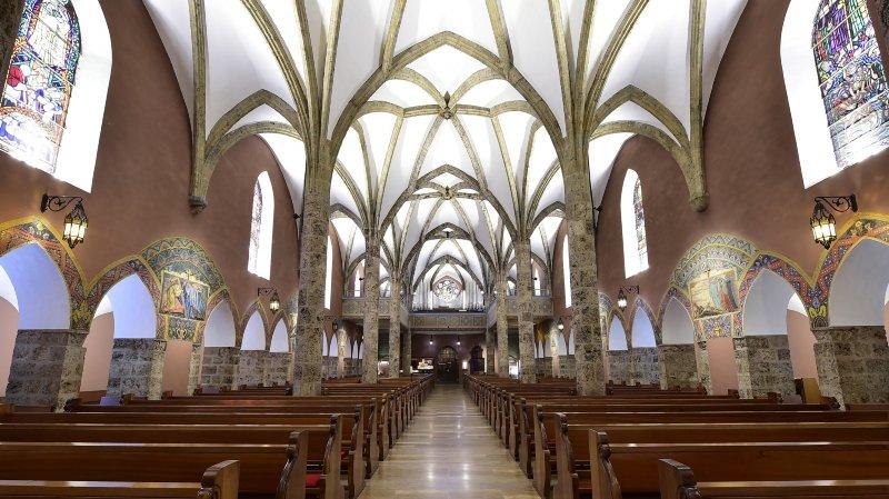 L'église Saint-Germain de Savièse se présente au public sous un nouveau jour.