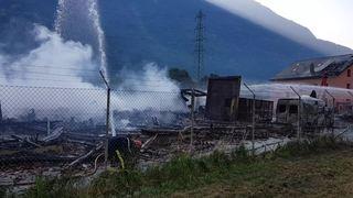 Incendie d'Evionnaz: 12 pompiers encore en action