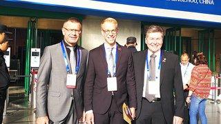 Les Présidents de Saxon, Finhaut et Salvan font la promotion de leur région en Chine