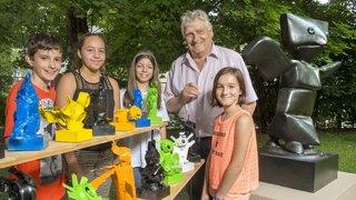 Martigny: à la Fondation Gianadda, les élèves s'exposent aux côtés de sculpteurs de renom
