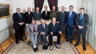 PDG: réception pour le nouveau et les anciens commandants