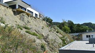 Savièse: six mois après l'impressionnant glissement de terrain, rien n'a bougé
