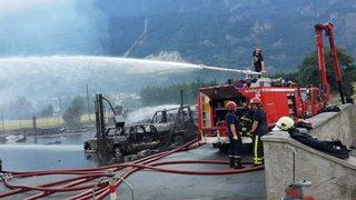 Incendie d'Evionnaz, jeudi matin (1)
