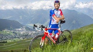 Le cycliste Steve Morabito a reconnu le col de la Croix de Coeur et son revêtement en terre battue