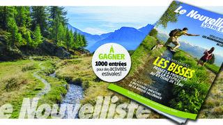 """""""Votre été"""" vous propose 16 balades en Valais en Suisse romande. A découvrir gratuitement ici"""