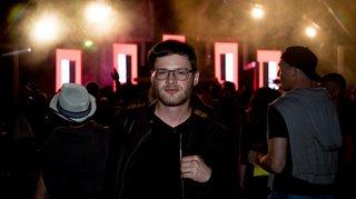 Avec le clubber Samuel Gex à Electrozîles