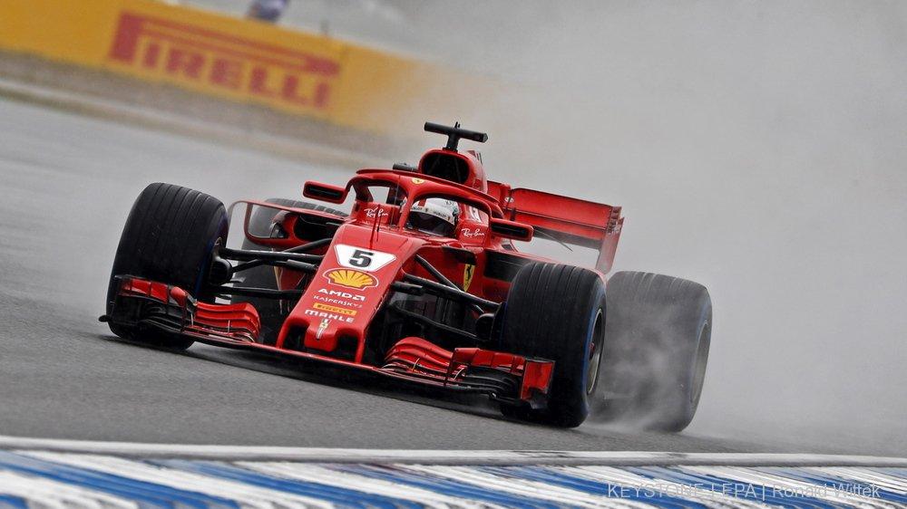 Grand Prix d'Allemagne: Vettel en pole position, Hamilton en 7e ligne