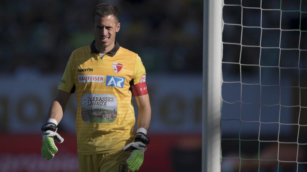 Kevin Fickentscher a retrouvé les cages du FC Sion dimanche face à Saint-Gall.