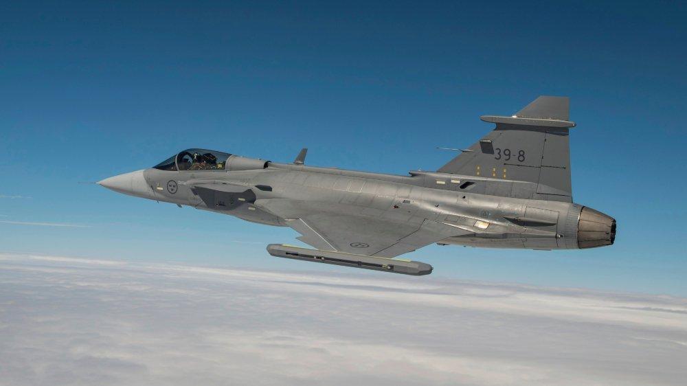 Histoire de redorer son blason après le refus helvétique de 2014, le fabricant Saab a invité la presse à venir admirer son Gripen E, qui, cette fois, vole.