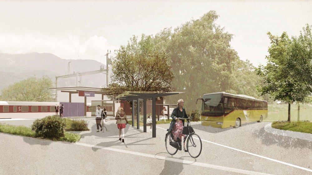 L'aménagement de la zone permettra aux bus de circuler dès décembre prochain.