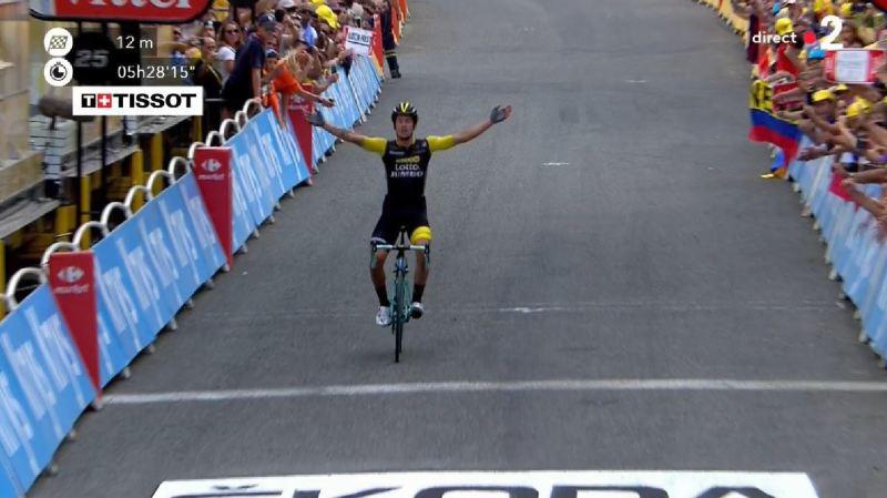 Cyclisme - Tour de France: Primoz Roglic s'impose à Laruns et passe 3e du général