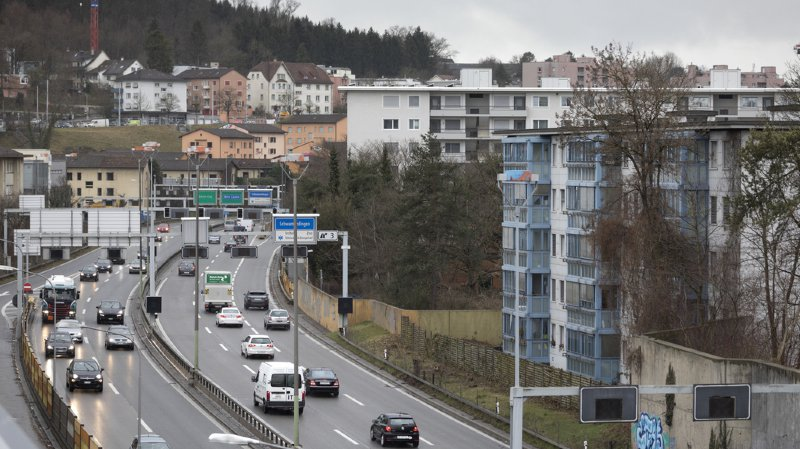 Le trafic allant vers Zurich pourrait ainsi circuler sur l'étage du bas et celui allant vers Berne sur l'étage du haut.
