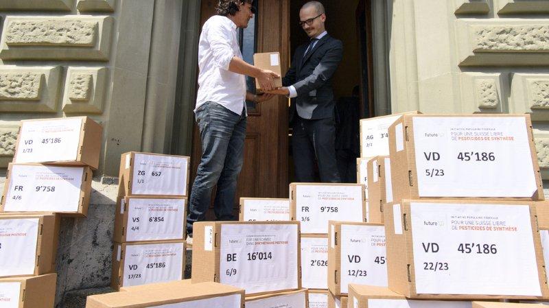 Sur les 121'620 signatures déposées le 25 mai à la Chancellerie fédérale, 121'307 ont été validées.