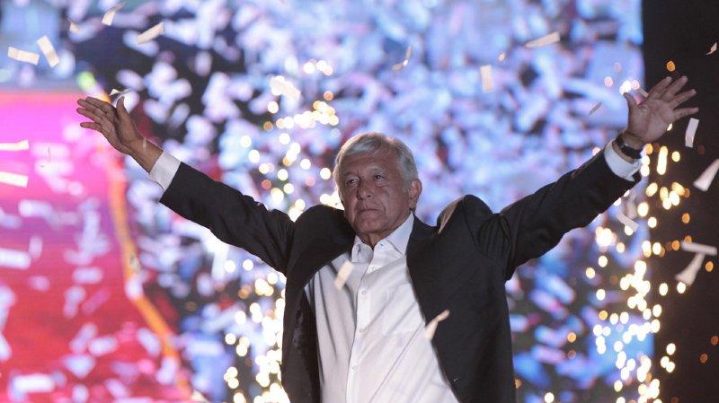 Andrés Manuel López a remporté dimanche la présidence pour la gauche mexicaine.  EPA/MARIO GUZMAN