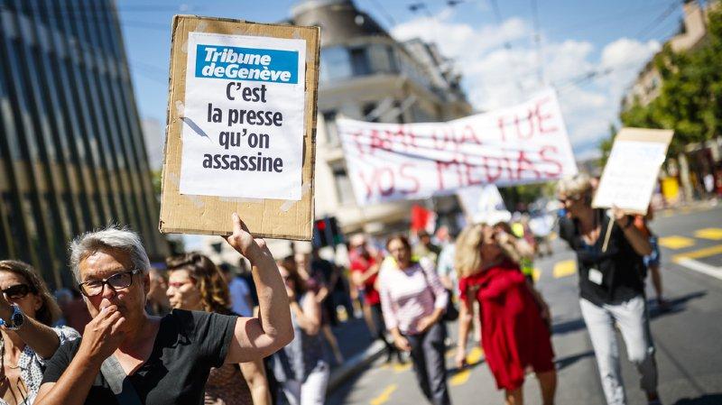 Les rédactions de 24 heures, la Tribune de Genève, et Le Matin ont publié un journal allégé ce jeudi.