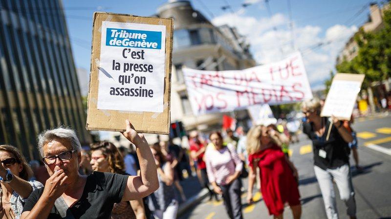 Grève chez Tamedia: plus de 200 manifestants soutiennent le mouvement