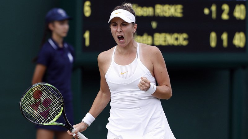 Tennis - Wimbledon: la Suissesse Belinda Bencic en 8e de finale, Nadal aussi. Halep éliminée.