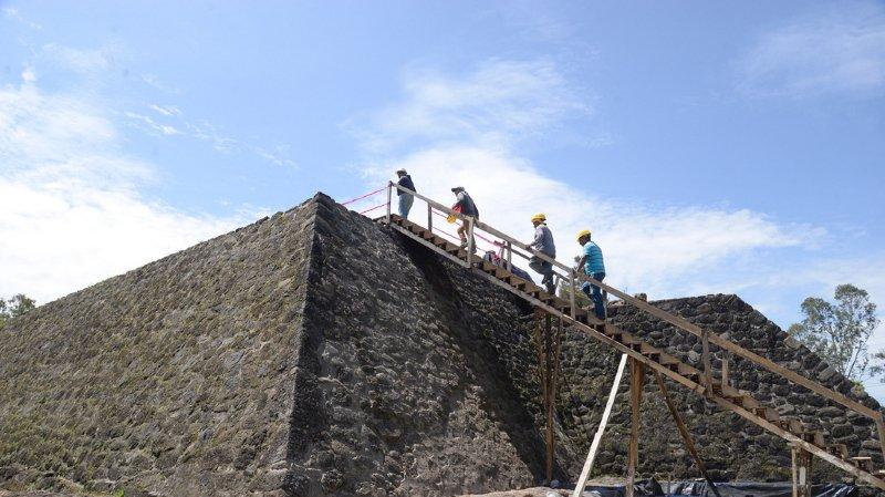 Le temple découvert dans la pyramide de Teopanzolco aurait mesuré environ six mètres de long et quatre mètres de large.