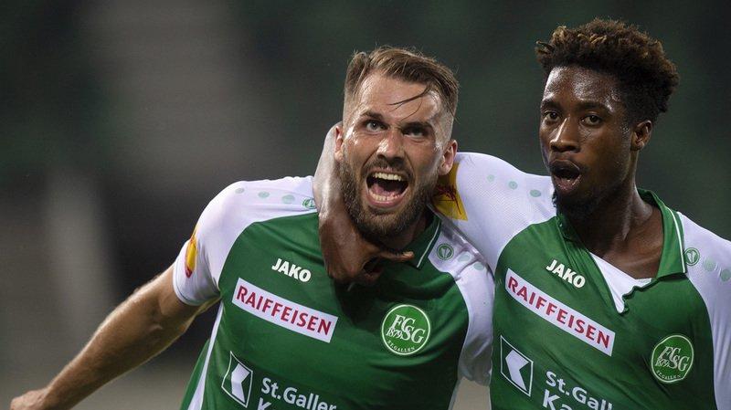 Cinq jours après leur victoire 2-1 à Bâle, les Saint-Gallois ont battu sur le même score les Norvégiens de Sarpsborg en match aller du deuxième tour préliminaire de l'Europa League.