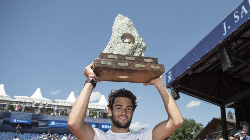 Tennis: l'Italien Matteo Berrettini triomphe à Gstaad